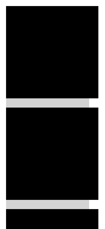 Single column of black rectangles. They are overflowing from the right side of the light gray background.